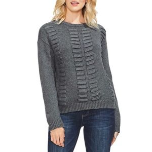 Vince Camuto Lace Through Detail Cutton Sweater